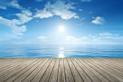 Blue sky ocean Royalty Free Stock Photos
