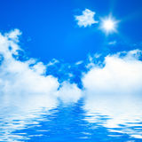 Blue sky ocean Royalty Free Stock Image