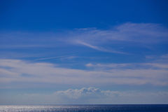 Blue Sky on the Ocean. Shoot with canon 5d iii in Italy Stock Image
