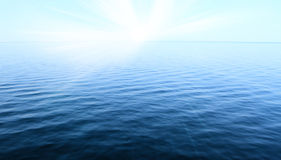 Blue sky and ocean Stock Image