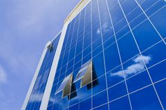 Blue sky and office building Royalty Free Stock Photo