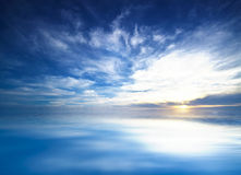 Blue sky in the open sea Royalty Free Stock Photo
