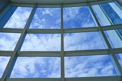 Blue sky outside office building Stock Image