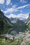 Blue sky over the alps. Sunny, windless weather over Obersee Royalty Free Stock Image