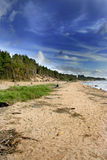 Blue sky over the Baltic Sea Stock Photography