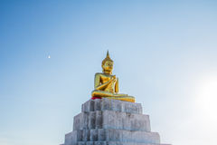 Blue sky over buddha statues Stock Image
