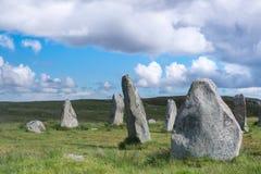 Blue sky over Callanish stone circle Stock Image