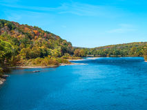 Blue Sky Over the Delaware Royalty Free Stock Image