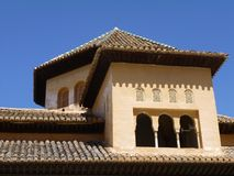 Roof top of the Alhambra in Granada, Spain Royalty Free Stock Image