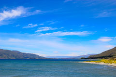 Blue Sky over Lake Hawea Stock Photography