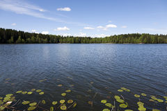 Blue sky over the lake Stock Photo
