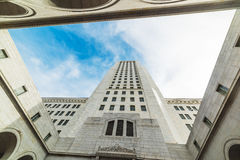 Blue sky over Los Angeles city hall Stock Photography