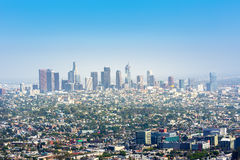Blue sky over Los Angeles downtown Stock Photo