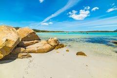 Blue sky over Lu Impostu beach Stock Image