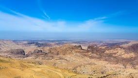 Blue sky over mountain around Wadi Araba area Stock Photos