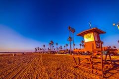 Blue sky over Newport Beach at sunset. California, USA Stock Photos