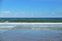 Blue sky over North Sea. In Denmark Stock Photos