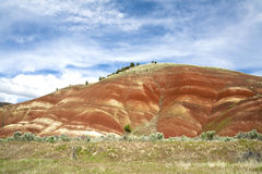Blue sky over Painted Hills. Royalty Free Stock Photo
