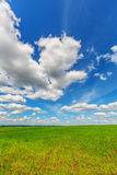 Blue sky over the plain Royalty Free Stock Photography