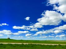 Blue Sky Over The Plains Royalty Free Stock Photography