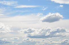 Blue Sky with Cumulus Clouds over Portland Oregon  3 Royalty Free Stock Photos