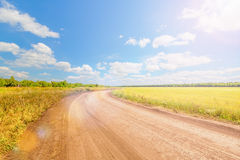 Blue sky over the road Stock Photos