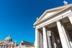 Blue sky over Saint Peter`s square Stock Photography