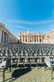 Blue sky over Saint Peter`s square Royalty Free Stock Image