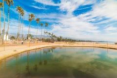 Blue sky over Santa Barbara shore. California Royalty Free Stock Photo