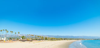 Blue sky over Santa Barbara shoreline Stock Images