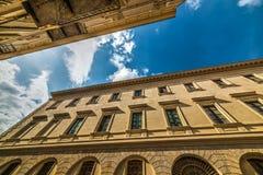 Blue sky over Sassari downtown Royalty Free Stock Photography