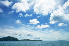 Blue sky over sea Stock Photo
