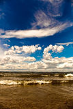 Blue sky over the sea Royalty Free Stock Image