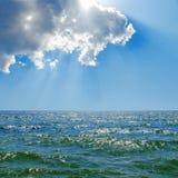 Blue sky over sea Stock Photos