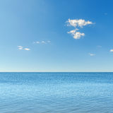 Blue sky over sea Royalty Free Stock Photos