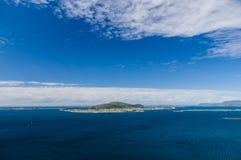 Blue sky over seascape of Atlantic ocean islands Stock Images