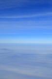 Blue sky over the surface Stock Photos