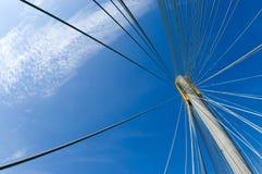 Blue Sky Over The Ting Kau Bridge 01 Royalty Free Stock Photo