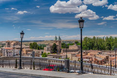 Blue Sky Over Toledo. Beautiful, sunny day in Toledo, Spain Stock Photography