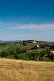 Blue sky over Tuscany countryside Stock Photography