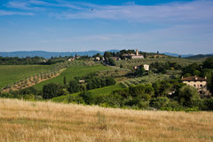 Blue sky over Tuscany countryside Royalty Free Stock Photos