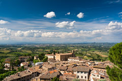 Blue sky over Tuscany countryside Royalty Free Stock Photo