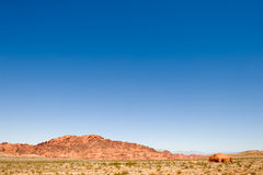 Blue sky over valley of fire Stock Image