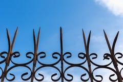 blue sky płotu obrazy stock