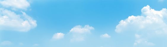 Blue sky panorama background with clouds in the morning.