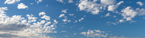 Blue Sky Panorama with clouds Stock Images