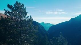 Blue sky panorama of spain pirinei mountains 4k time lapse spain stock video