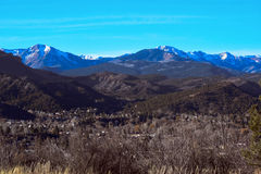 Blue sky panoramic mountain Royalty Free Stock Images