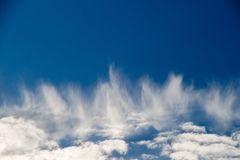 Blue  Sky with some white clouds. Blue Sky is partly filled with white clouds Royalty Free Stock Photos