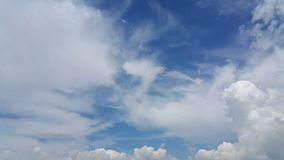 Blue sky and puffy cloud Royalty Free Stock Image